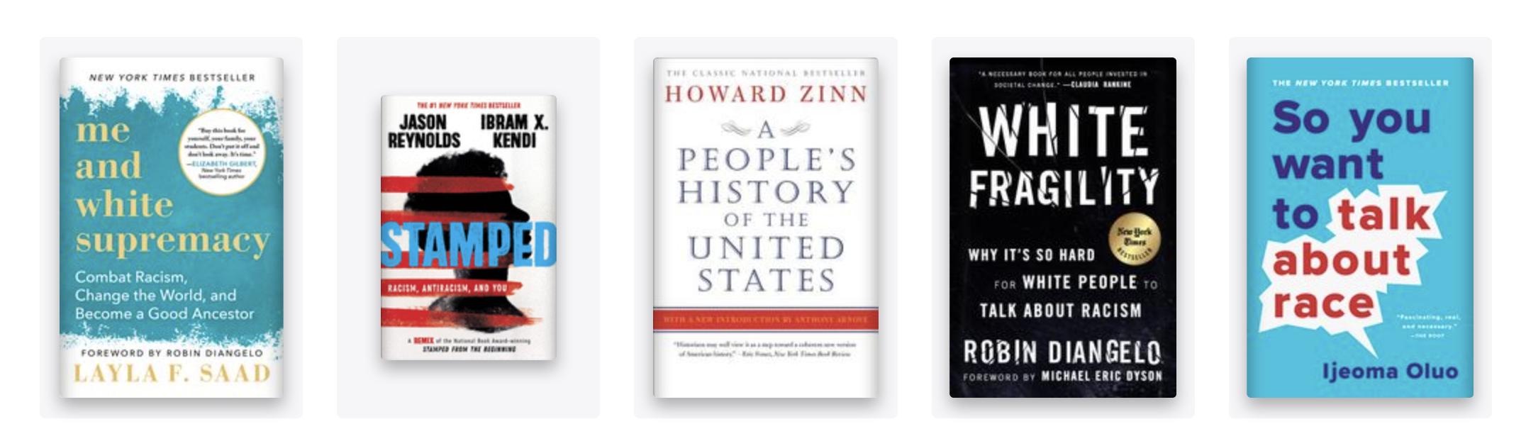 a long list of books about racism & black history | VISTACANAS.COM